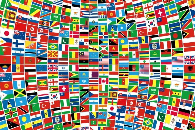 世界には200くらいの国があります