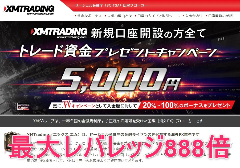 XMTrading(エックス エム)口座開設の概要&メリット
